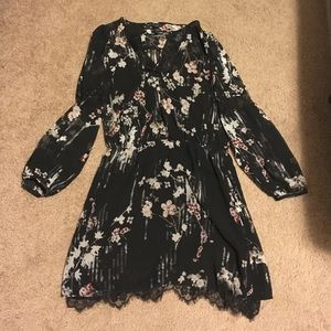 WHBM lace floral dress